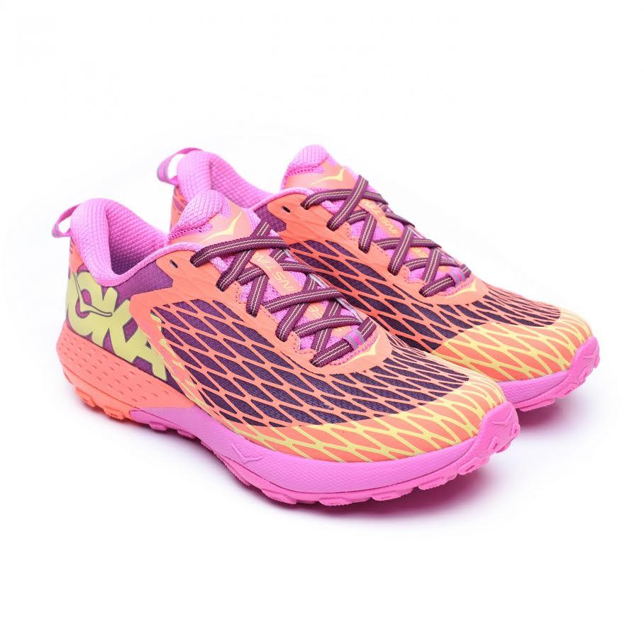 נעלי הוקה ספיד אינסטינקט לנשים בצבע קוראל נאון/שזיף