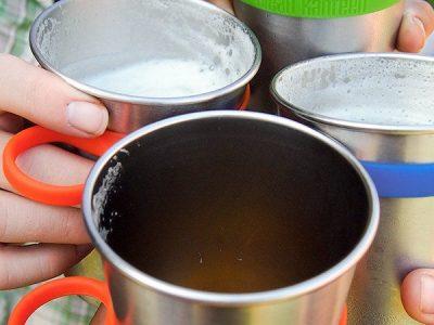 """מארז 4 כוסות נירוסטה 470 סמ""""ק KLEAN KANTEEN Steel Cup 16oz - 4 Pack"""
