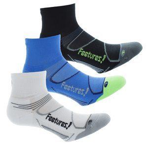 גרבי ריצה וספורט של Feetures עובי בינוני (גובה מעל הקרסול)