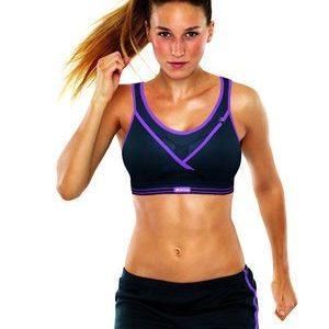 חזיית ספורט Ultimate Gym Bra שחור סגול