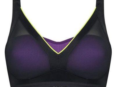 חזיית ספורט מרופדת Active Shaped Support Bra שחור-סגול