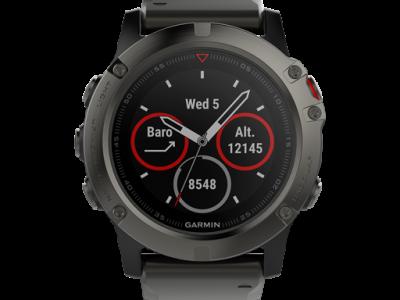 שעון מולטי ספורט דגם Fenix 5X של גרמין