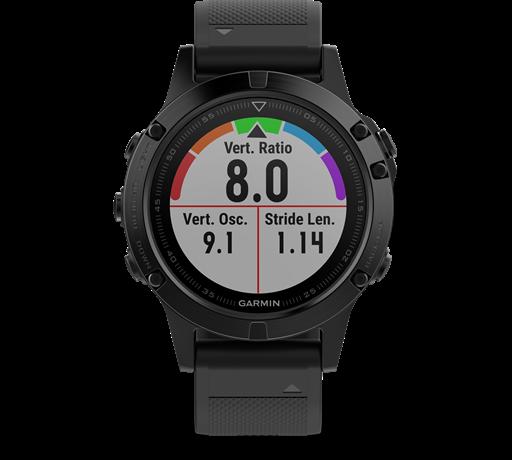 שעון מולטי-ספורט דגם Fenix 5  Sapphire של גרמין