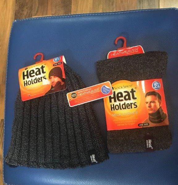 כובע גרב + חם צוואר לגברים של חברת HEAT HOLDERS
