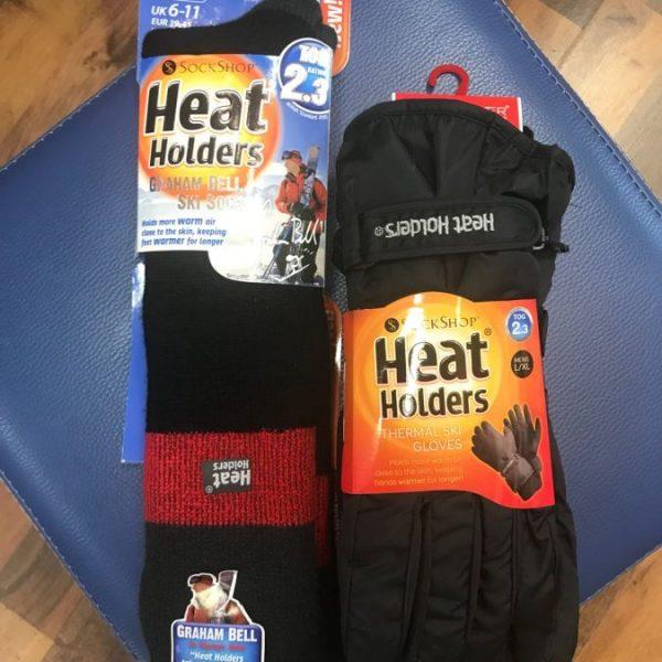 גרב סקי + כפפות סקי של חברת HEAT HOLDERS