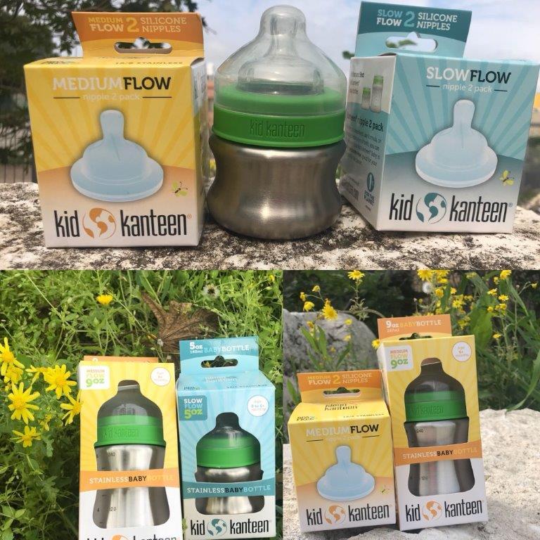 בקבוק תינוקות 267 מל + פייה מותאמת במתנה של KLEAN KANTEEN
