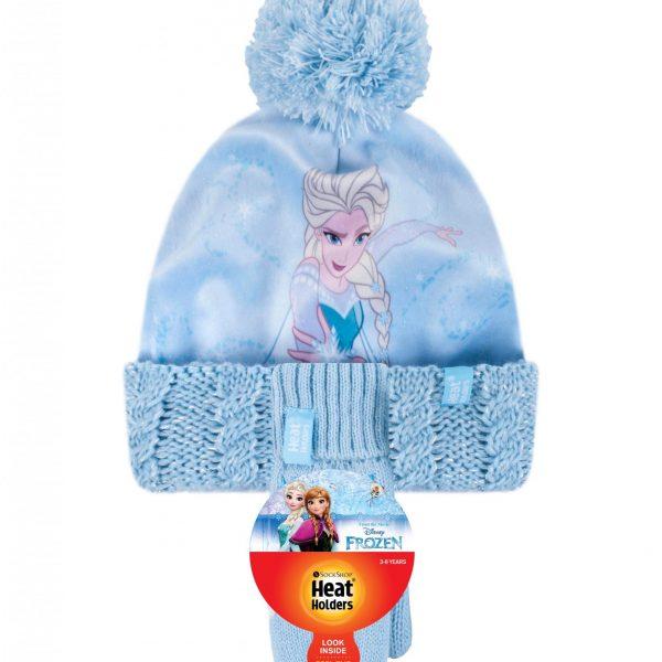 כובע טרמי וכפפות לילדים ואנה ואלזה (גילאי 3-6)