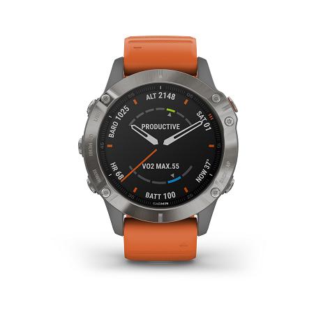 שעון ספורט GARMIN fēnix 6 - Sapphire Titanium