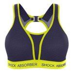 חזיית ריצה מרופדת Ultimate Run Bra Padded - כחול-צהוב